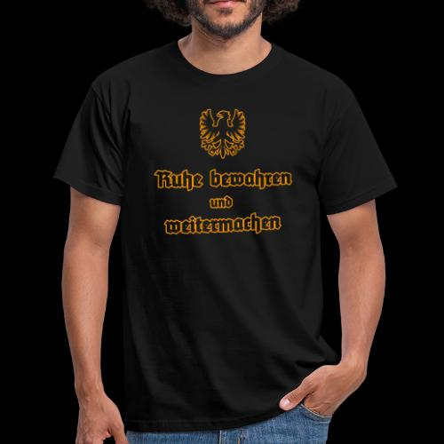 Men's T-Shirt - Based on the Keep calm and carry on posters.