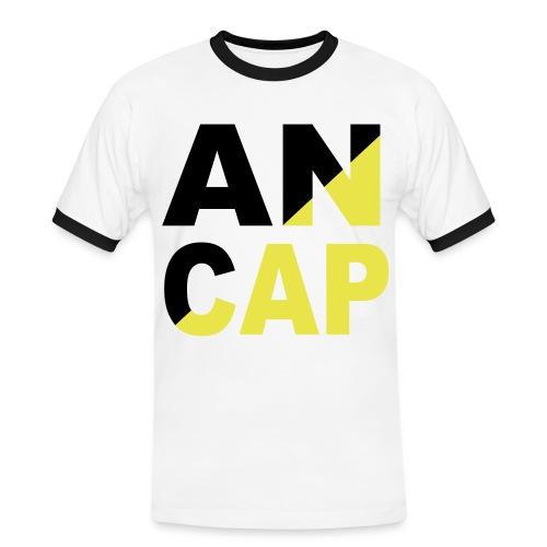 ANCAP - Anarchokapitalist - Männer Kontrast-T-Shirt