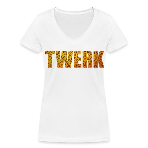TWERK - Frauen Bio-T-Shirt mit V-Ausschnitt von Stanley & Stella