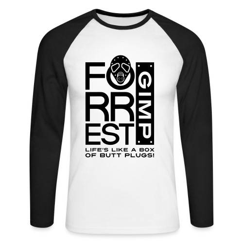 Forrest Gimp - Men's Long Sleeve Baseball T-Shirt