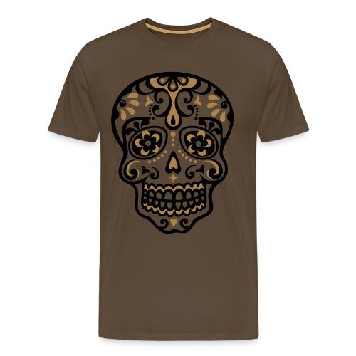 T-Shirt 'Sugar Skull' - Mannen Premium T-shirt