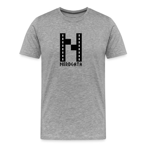 Nerdgata skjorte - Premium T-skjorte for menn