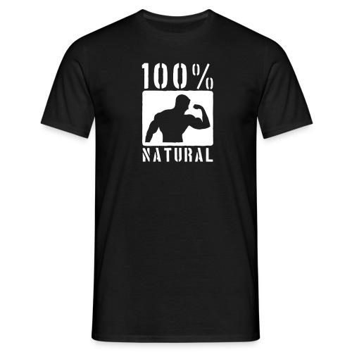 100% Natural Black - Men's T-Shirt