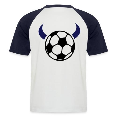 Männer Baseball-T-Shirt - Fussballteufel