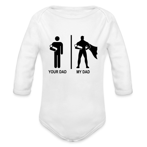 Super dad - Organic Longsleeve Baby Bodysuit