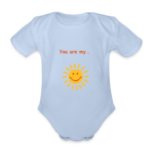You are my sunshine - Organic Short-sleeved Baby Bodysuit