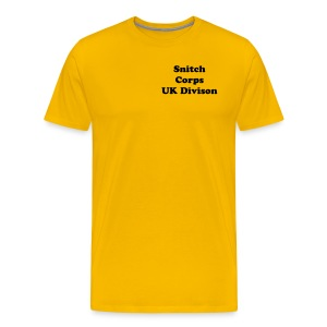 Snitch Corps UK Division Shirt. - Men's Premium T-Shirt