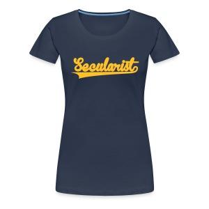 Secularist - baseball design - Women's Premium T-Shirt