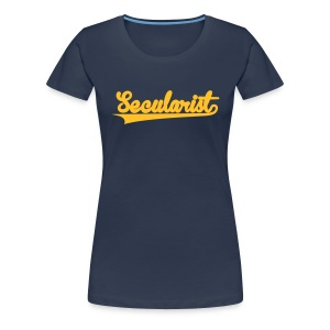 Secularist - baseball design - Women's Premium T-Shirt