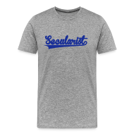 T-Shirts ~ Men's Premium T-Shirt ~ Secularist - baseball design