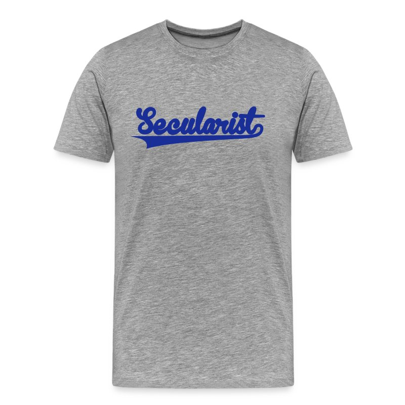 Secularist - baseball design - Men's Premium T-Shirt