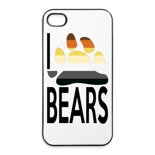 Coque  Iphone 4/4S I love bears - Coque rigide iPhone 4/4s