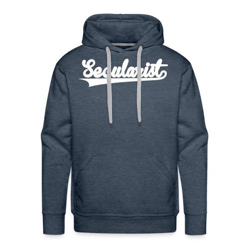 Secularist - baseball design - Men's Premium Hoodie