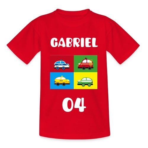 Bunte Autos - Kinder T-Shirt
