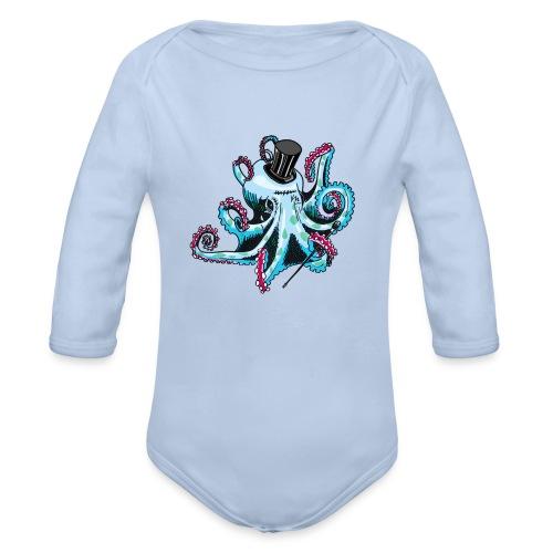 Gentleman Octopus Creeper - Organic Longsleeve Baby Bodysuit