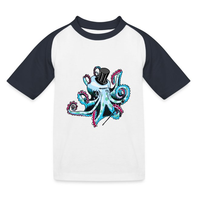 Gentleman Octopus Baseball Tee