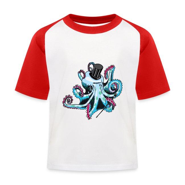 Gentleman Octopus Baseball Tee