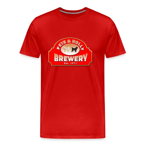 PETE & HOLLY Brewery - Männer Premium T-Shirt