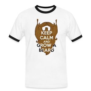 Keep calm and grow a beard - T-shirt contrasté Homme