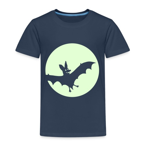 Fledermausmond glow-in-the-dark - Kinder Premium T-Shirt