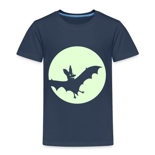 Fledermausmond glow-in-the-dark - Kinder Premium T-Shirt