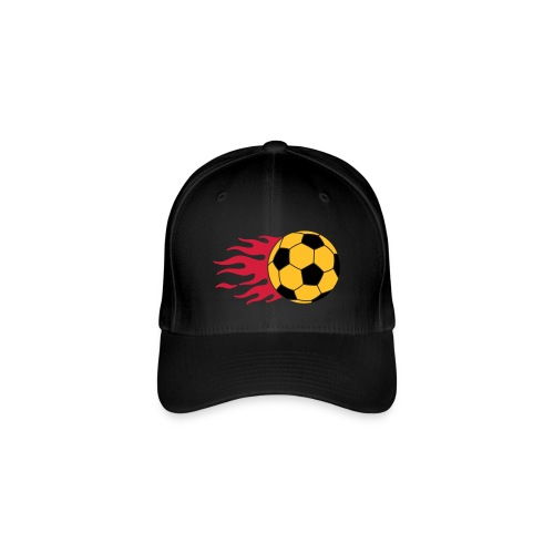 flaming football - Flexfit Baseball Cap