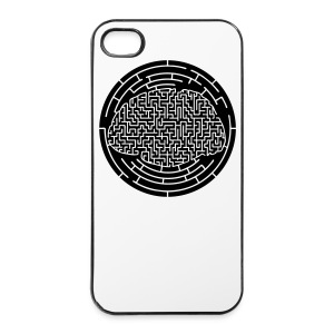 Cerveau labyrinthe plein - iPhone 4/4s Hard Case