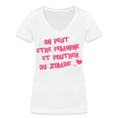 Citation « Suck My Geek » (F) - T-shirt bio col V Stanley & Stella Femme