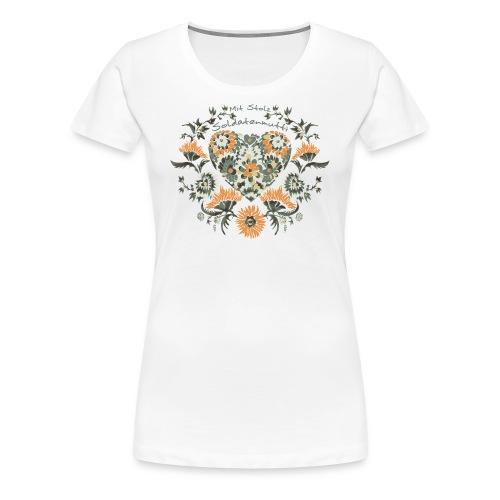 Mit Stolz Soldatenmutti - Frauen Premium T-Shirt