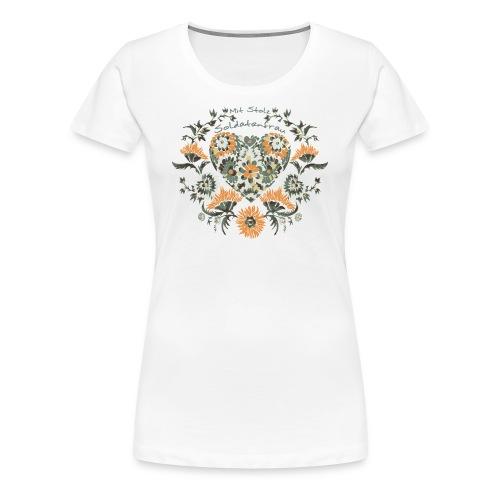 Mit Stolz Soldatenfrau - Frauen Premium T-Shirt