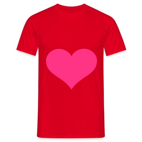 PinkesHerz - Männer T-Shirt