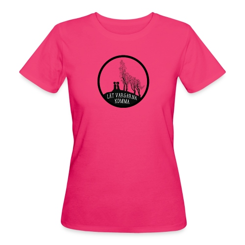 T-shirt med vargmotiv och text - Låt vargarna komma - Ekologisk T-shirt dam