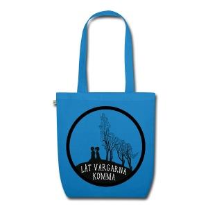 Väska med vargmotiv och text - Låt vargarna komma - Ekologisk tygväska