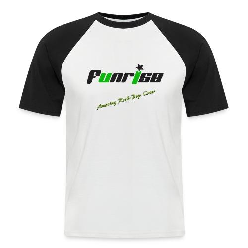 Fan-Shirt Man schwarz / weiß  - Druck vorne / Amazing Rock & Pop Cover - Männer Baseball-T-Shirt
