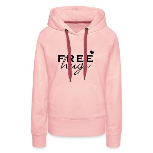 Vrouwensweater met capuchon met FREE hugs print - Vrouwen Premium hoodie
