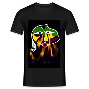 Feuergesicht - Männer T-Shirt