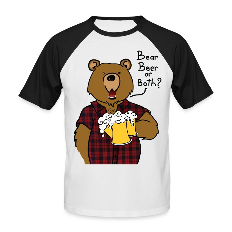 T-shirt gros logo bear and beer - T-shirt baseball manches courtes Homme