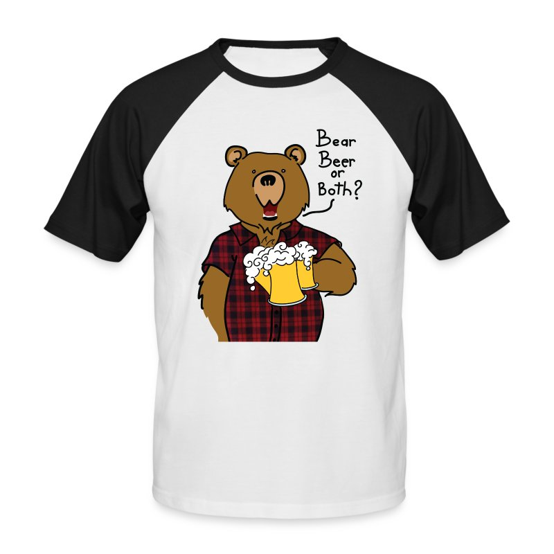 T-shirt bear and beer - T-shirt baseball manches courtes Homme