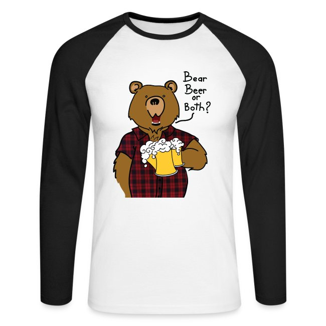 T-shirt Baseball Bear and Beer impression davant