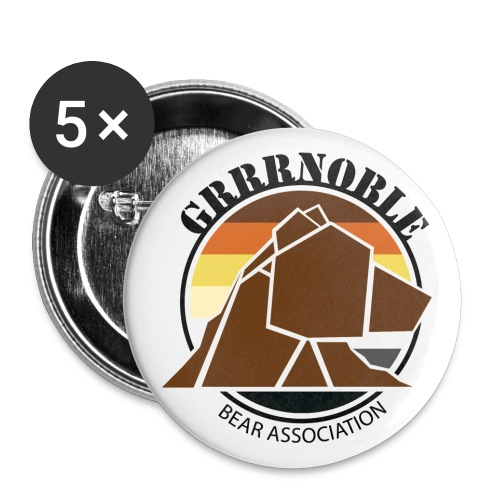Badge Logo GRRRnoble Bear Association - Badge grand 56 mm