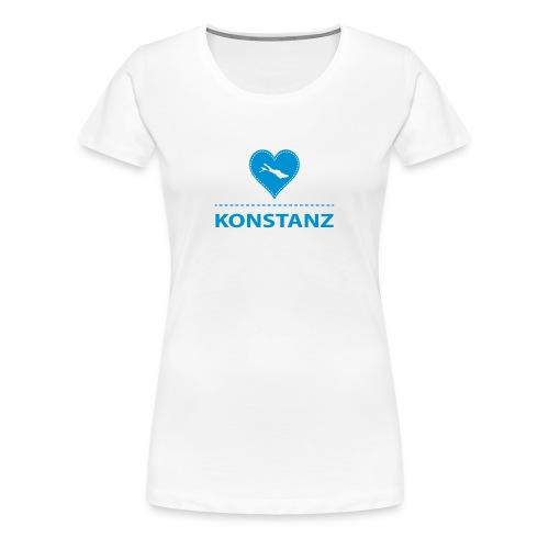 WOMEN Konstanz flex blau - Frauen Premium T-Shirt