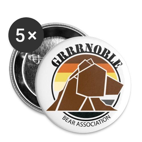 Badge logo GRRRnoble Bear Association - Lot de 5 moyens badges (32 mm)