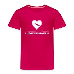 KIDS Ludwigshafen flex weiß - Kinder Premium T-Shirt