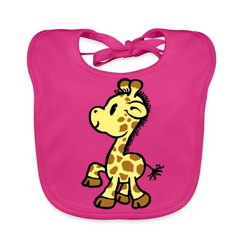 Läzchen Giraffe - Baby Bio-Lätzchen