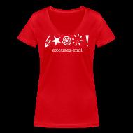 T-shirts ~ Vrouwen T-shirt met V-hals ~ T-shirt excusez-moi