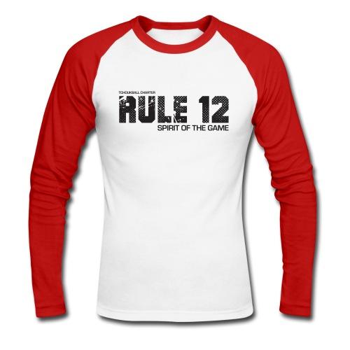 Men's Tchoukball Long sleeve Tshirt Rule 12 | Tchouka.ch  - Men's Long Sleeve Baseball T-Shirt