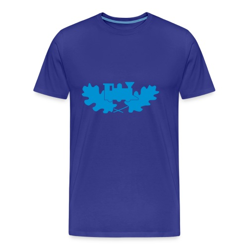 Mens Casual Blue Logo - Herre premium T-shirt