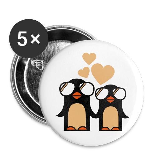 rintamerkiti pingviinit - Rintamerkit isot 56 mm (5kpl pakkauksessa)