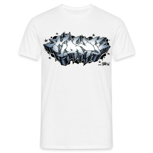 KONF - graffiti - silver - Men's T-Shirt