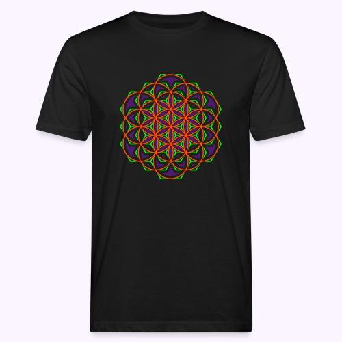 Flower of Live 1 UV-Active Organic - Men's Organic T-Shirt